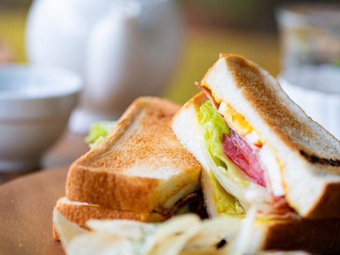 カフェ・セレネのサンドイッチ