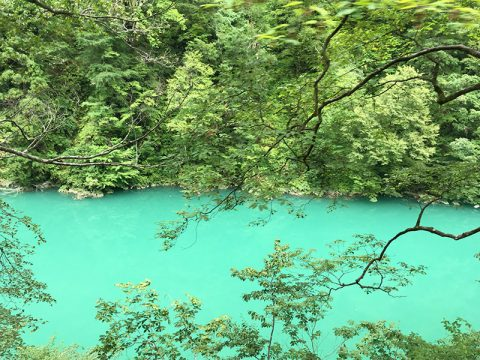 黒部峡谷の川