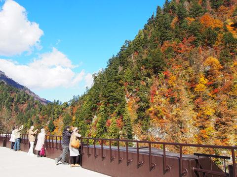 欅平駅展望台からの景色